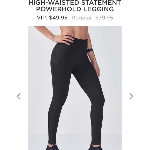 ba022482e616 Fabletics Pants | High Waisted Statement Powerhold Legging | Poshmark